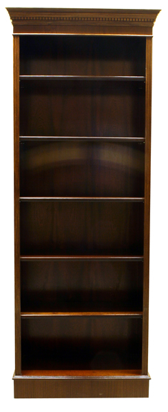 reproduction georgian tall open bookcase