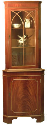 reproduction corner cabinet