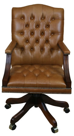 reproduction gainsborough swivel desk chair