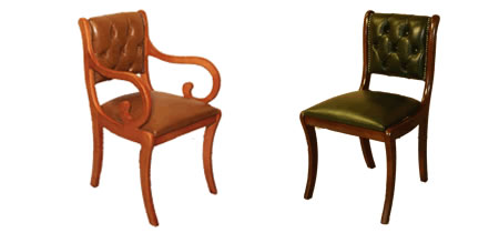 reproduction half saddle enfield chairs