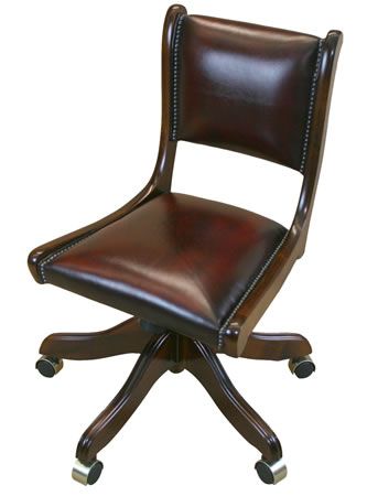 reproduction regency swivel desk chair no arms
