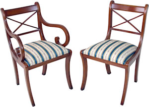 reproduction cross stick dining chairs