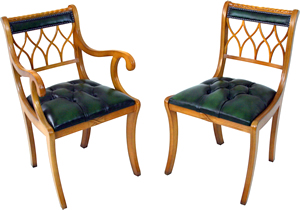 reproduction gothic back dining chairs