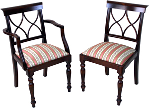 reproduction hour glass dining chairs