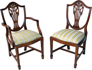 reproduction prince of wales dining chairs