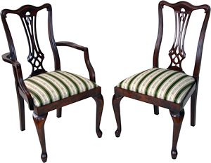 reproduction queen ann legs dining chairs