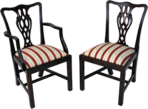 reproduction ribbon back dining chairs