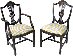 reproduction shield back wheatear dining chairs