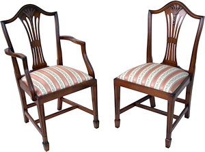 reproduction wheatear high back dining chairs