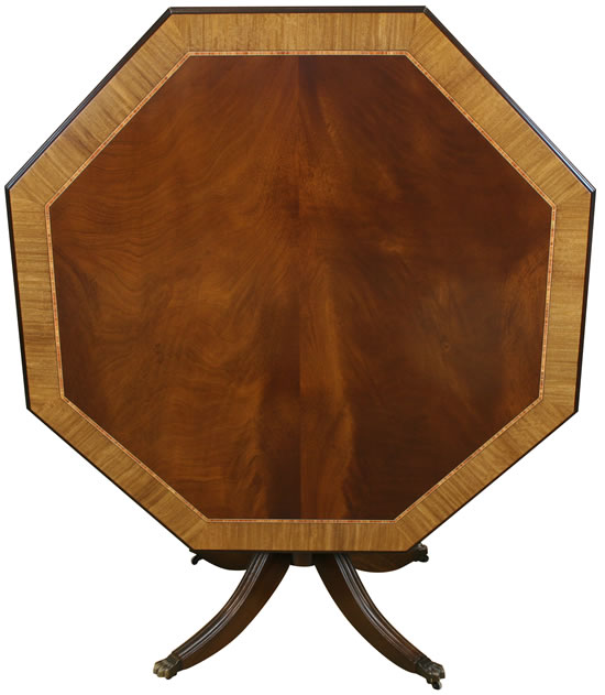 Example of Curl Mahogany with Tulip Inlay and Satinwood crossbanding