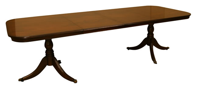 "reproduction 8'8"" d end dining table"