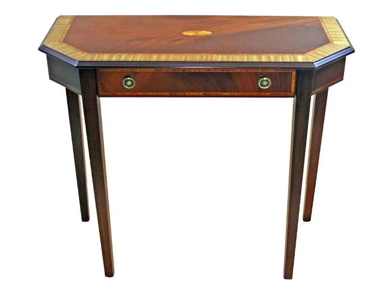 Art Deco Hall Table Mahogany and Satinwood
