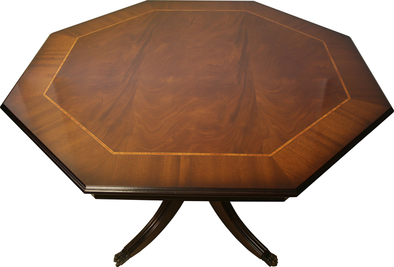 Octagonal Breakfast Dining Table Mahogany