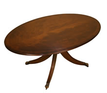 reproduction round and oval coffee tables