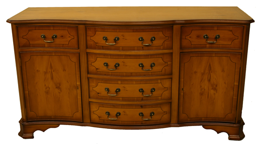 reproduction serpentine sideboard