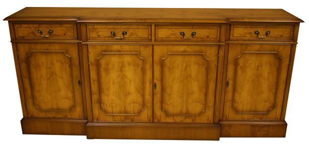 reproduction georgian break front sideboard