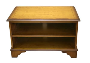small open front reproduction tv cabinet