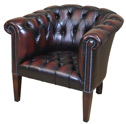 Contract Tub Chair with Buttoned Seat
