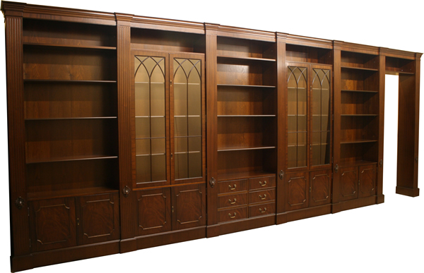 bespoke reproduction modular bookcases with columns